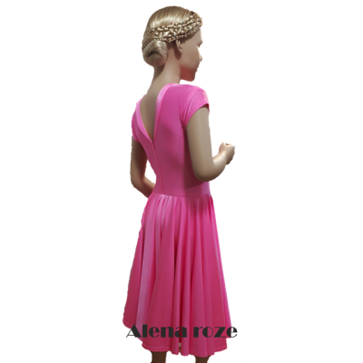 Платье танцевальное конкурсное для девочки с коротким рукавом Алёна.