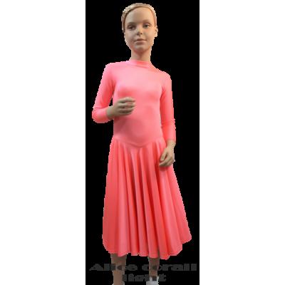 Платье танцевальное конкурсное для девочки с рукавом 3/4 Алиса.
