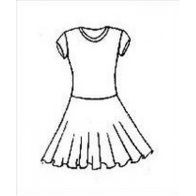 Платье танцевальное конкурсное для девочки с коротким рукавом Даша.