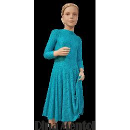 El vestido para las competiciones de baile y los discursos del rating de baile Dina.