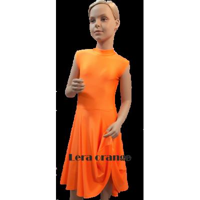 Платье танцевальное конкурсное для девочки без рукавов Лера.