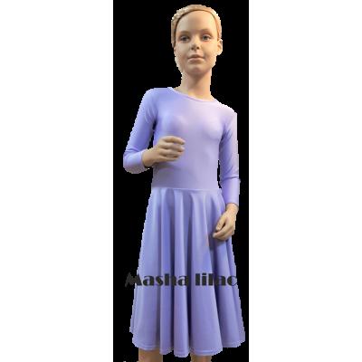 Платье танцевальное конкурсное для девочки с рукавом 3/4 Маша.