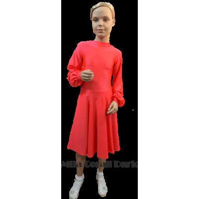 Платье танцевальное конкурсное для девочки с длинным широким рукавом Мила.