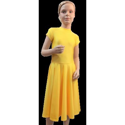 Платье танцевальное конкурсное для девочки с коротким рукавом Оля.