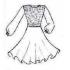 Платье Софья танцевальное, конкурсное, для девочки, с длинным рукавом.