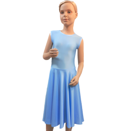 Robe pour le concours de danse et de spectacles de popularit sans manches Sonia.