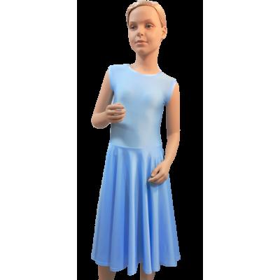 Платье танцевальное конкурсное для девочки без рукавов Соня.